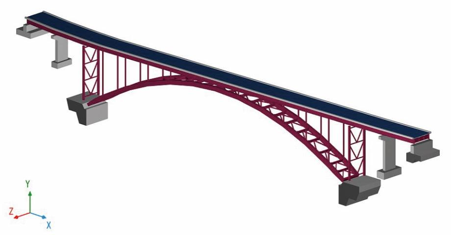 鋼製アーチ橋